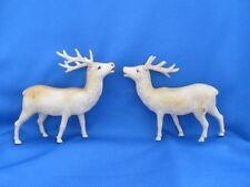 Celluloid Vintage Animal Christmas Nativity 2 Tan Reindeer Mark: Royal Trefoil
