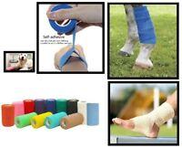 "VET Co-Flex Wrap Horse Pony Bandage  4"" x 5 yards 6 Rolls ~ NEW"