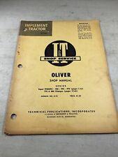 Oliver 950 990 995 770 880 Tractor Iampt Shop Manual