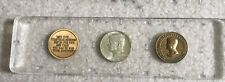 """2 1963 John F Kennedy """"Ask Not What You Can Do Medals"""" and 1964 Half Dollar Set"""