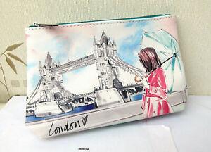 "Elemis Megan Morrison ""Travel Write Draw"" London Pattern Lined Make Up Bag"