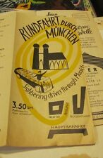 1953 Sightseeing Drives Through Munich Germany Travel Brochure with Street Map