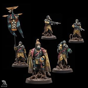 Death Korps of Krieg Command HQ Squad painted figure Warhammer 40k | Art level