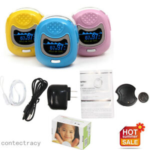 OLED Kids Children/Pediatric Pulse Oximeter SPO2 Pulse Rate Oxygen,3 color,CE