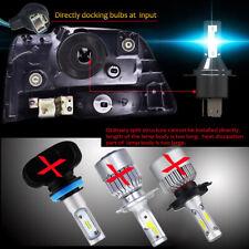 H4 12V 55W Bright Waterproof Car LED Headlight 26000LM Conversion Bulb Adapter