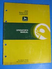 John Deere A20 Row Crop Cultivator Operator'S Manual Oem Factory Original