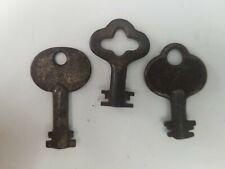 "Antique Double Sided Skeleton Keys, 1.5"", Heavy, Hollow Barrells"