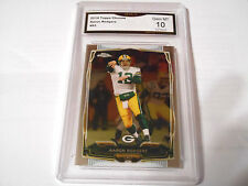 Aaron Rodgers GRADED CARD!! Gem Mint 10!! 2014 Topps Chrome #83 Packers MVP!! -3