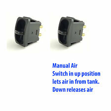 2 Manual Paddle Valve Switches Control Air Ride Suspension Load Support Bags