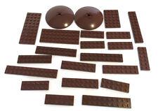 LEGO Brown Bricks Mixed Bulk Lot 22 Pieces GOOD VARIETY Parts Plates Dish