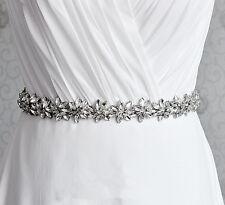 Gorgeous Beads Bridal Applique Diamante Motif Rhinestone Floral Wedding Applique