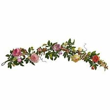 Nearly Natural 4539 Mixed Peony and Berry Garland NEW