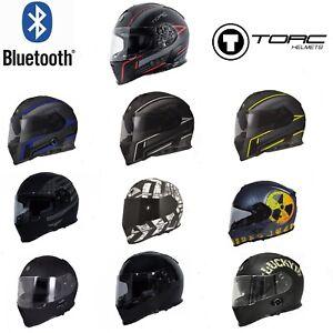 TORC T14 Mako Bluetooth Full Face Motorcycle Dual Visor Helmet - DOT ECE