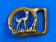 RARE  Vintage Deer in cut out Hippie Hobo Brass belt buckle by THE Naatar Works