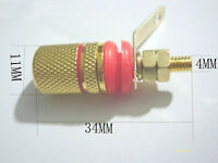 20pcs Gold Plated Audio speaker Binding Post Amplifier terminal for 4mm plug