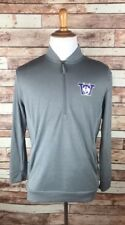 University of Washington Huskies Large Gray 1/4 Zip Pullover Champion Jacket NWT