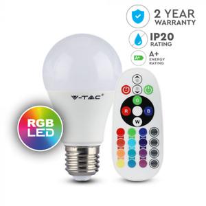 LED Glühbirne/Leuchtmittel RGB V-TAC E27 A 60 9 Watt 3000 K dimmbar