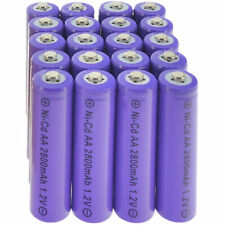 LOT 2-24PCS 1.2V NiCd AA 2800mAh Rechargeable Durable Batteries For Solar Light