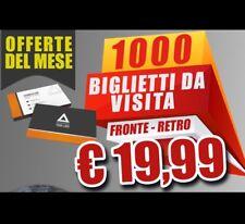 STAMPA 1000 BIGLIETTI BIGLIETTO DA VISITA  - 300GR-  FRONTE-RETRO - COLORI -