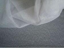 Gardinenstoff Vorhangstoff Stoff Store 260 cm x 480 cm,transparent,neu reinweiß