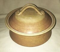 Hand Thrown Studio Art Pottery Casserole Dish with Lid - Signed Wesson