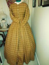 Civil War Reenactment Day Dress Size 10 Golden Orange Cotton Flannel