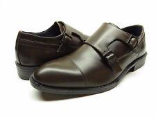 NEW Joseph Abboud Brown Dante Double Monk Strap Men's Sz. 9 Leather Upper