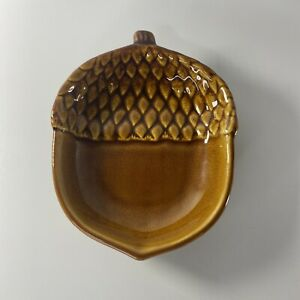 """Pottery Barn Ceramic Fall """"Acorn"""" Dish for Nuts Candy Condiments or Jewelry Cute"""
