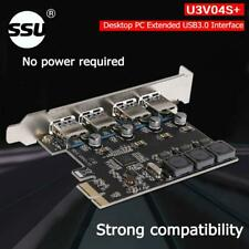 SSU U3V04S 4Port USB 3.0 PCIe Expansion Card PCI Express USB Hub Adapter for PC