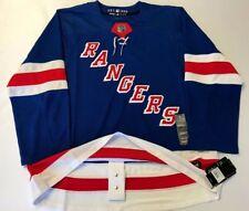 NEW YORK RANGERS size 54 = sz XL - ADIDAS NHL HOCKEY JERSEY Climalite Authentic