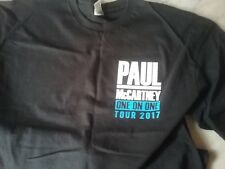 Paul McCartney local crew t shirt NEW never worn XL black one on one Tour 2017