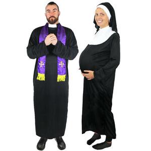 PRIEST OR PREGNANT NUN COSTUME RELIGIOUS FUNNY FANCY DRESS LADIES MENS