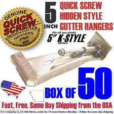 """5"""" inch Gutter Hanger Bracket includes Screw  K Style with clip box of 50 Strong"""