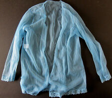 NEW VINTAGE (80s) Silky Sheer Robe / Shirt Lingerie - ONE SIZE