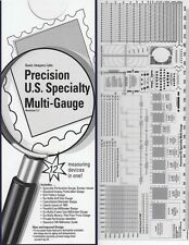 Scott US Precision 12-in-1 Multi Gauge For Stamp Collectors Measuring Device NEW