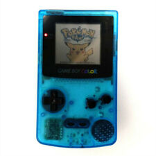 Clear Light Blue Refurbished Nintendo Game Boy Color GBC Video Console+Game Card