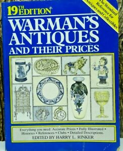 Warman's Antiques and Their Prices 19th Edition Vintage 1985 Paperback