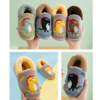 Unisex Kids Baby Girls Boys Indoor Dinosaur Flock Winter Warm Fashion Home Shoes