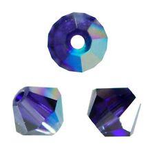 20 Toupies 4mm cristal Swarovski  - PURPLE VELVET AB XILION