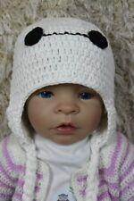Knit Crochet Newborn Infant Baby Child Kids Big Hero 6 Baymax Hat Beanie White