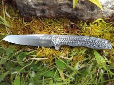 TWOSUN TS16 couteau pliant ACIER D2 roulement à billes EDC Camping Rando Pêche