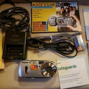 Sony Cyber-shot DSC-P73 4.1MP Digital Camera, Complete Accessories, Open Box