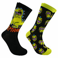 Hyp Nickelodeon Rugrats Reptar Pose Men's Crew Socks 2 Pair Pack Shoe Size 6-12