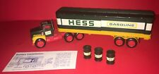 1976 Hess Truck, Fuel Oils Tractor Trailer , 3 Barrels, Sliding Doors In Box