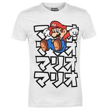 Official License Nintendo Super Mario Japanese Text 2XL (XXL) Mens T-Shirt BNWT
