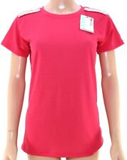 HELLY HANSEN Ladies HH SPORTS TOP Cool Stay Dry UPF 30 Melon PINK T-Shirt LARGE