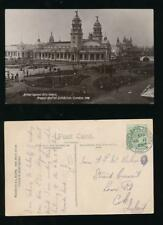 GB EXHIBITION POSTMARK 1908 FRANCO BRITISH PPC APPLIED ARTS PALACE REAL PHOTO