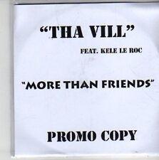 (CH470) Tha Vill Feat Kele Le Roc, More Than Friends - DJ CD