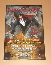 "Alice Cooper ""Ol Black Eyes� Returns Promo 2011 Poster 11x17"