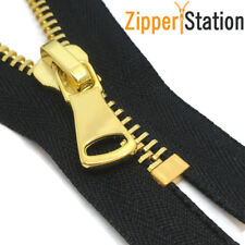Heavy Duty No 8 Gold Teeth ZIp/Metal Closed End Zippers